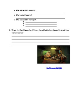 Defective Detective Inferencing Worksheet By Miss A S Mismatched