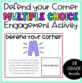 Defend Your Corner- Multiple Choice Question Activity