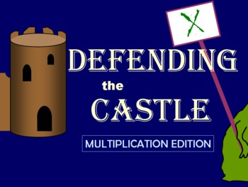 Defending the Castle: A Multiplication Facts Game & Review Activity