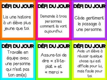 Défi de la bienveillance // French kindness challenge
