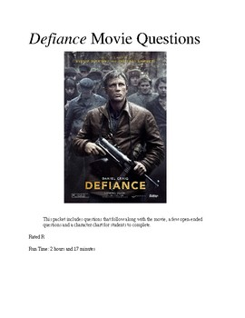 Defiance Movie Questions