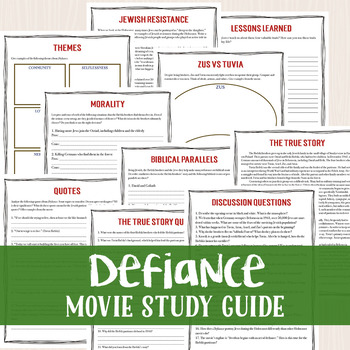 Defiance Movie Study Guide