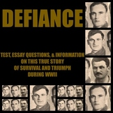 Defiance - the film (based upon a true story) (test, questions, summary)