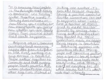 Define Beauty - Explanatory Essay