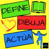 Define, Dibuja, Actúa - a fun, interpersonal activity to p