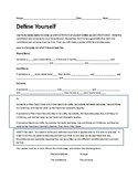 Define Yourself Poster (Mathematical Definitions in Geometry)
