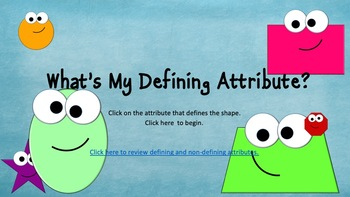 Defining Attributes 1.G.A.1 Interactive MINI game