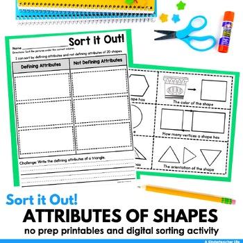 Defining Attributes of Shapes Sort