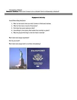 Defining Citizenship Hook Activity