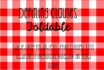 Defining Clauses Foldable