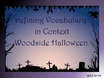 Defining Descriptive Vocabulary in Context - Halloween Theme