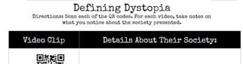 Defining Dystopia: A QR Code Activity-- with STATIONS OPTION!