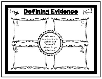 Defining Evidence Pair and Share Activity Sheet