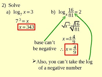Defining Logarithmic Functions