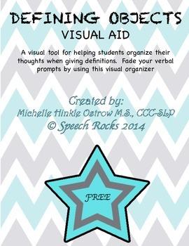 Defining and Describing Objects ~ Visual Organizer ~ Freebie