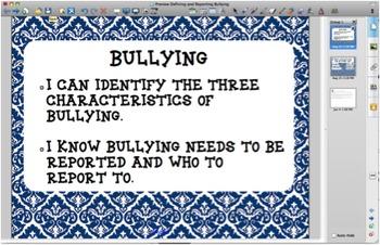 Defining & Reporting Bullying