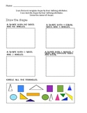 Defining Shapes Assessment