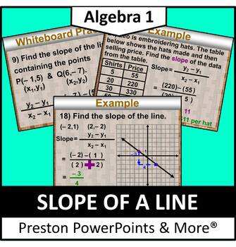 (Alg 1) Slope of a Line in a PowerPoint Presentation
