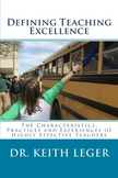 Defining Teaching Excellence: The Characteristics, Practices & Experiences of...