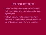 Defining Terrorism
