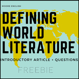 Defining World Literature: Reading and Questions