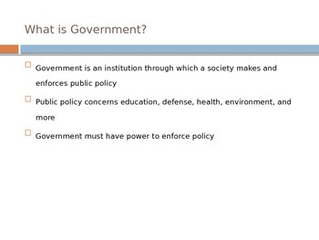 Defining a State in Government