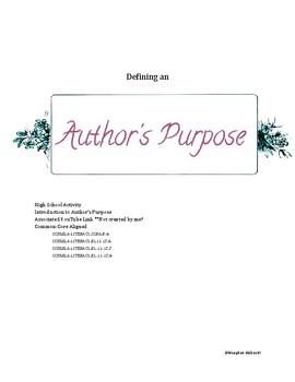 Defining an Author's Purpose Through P.I.E.S
