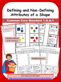 Defining and Non-Defining Attributes of a Shape