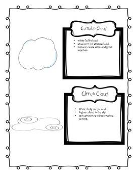 Defining clouds worksheet