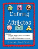 Defining vs. Non-Defining Attributes of Flat Shapes