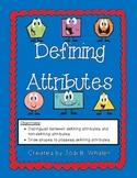 Defining vs. Non-Defining Attributes of Flat Shapes