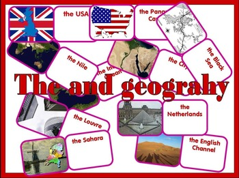 Definite Article with Geographical Names. Domino.