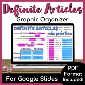Definite Articles Graphic Organizer