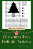 Definite Articles Practice Page Christmas Tree