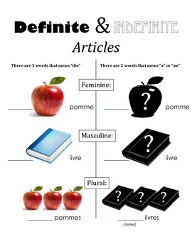 Definite & Indefinite Article Notes (Bien Dit! 1 Chapter 1)