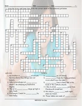 Definite-Indefinite Articles Crossword Puzzle