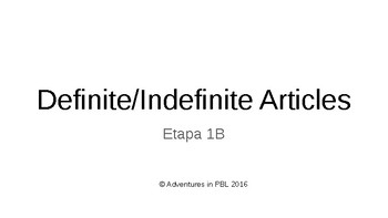 Definite & Indefinite Articles PowerPoint