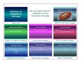 Definite-Indefinite Articles PowerPoint Slideshow