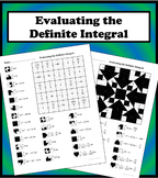 Evaluating the Definite Integral Color Worksheet