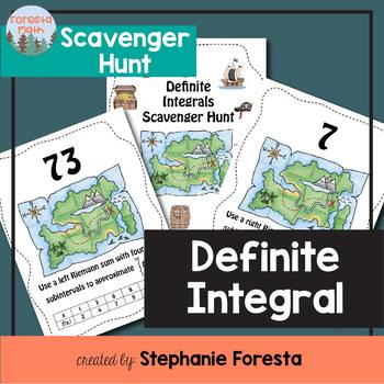 Definite Integral Scavenger Hunt