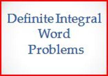 Definite Integral Word Problems (PP)