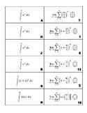 Definite Integral as Limit of a Riemann Sum Matching Game