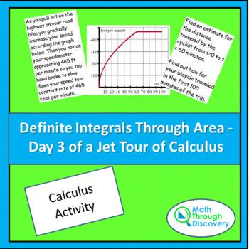 Calculus:  Definite Integrals Through Area - Day 3 of a Jet Tour of Calculus