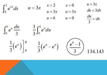 Definite Integrals using u Substitution (PP)
