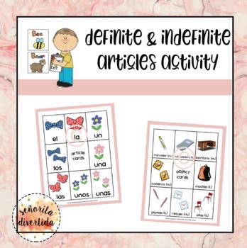 Definite and Indefinite Articles Activity