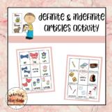Activity with Los Artículos Defenidos e Indefinidos