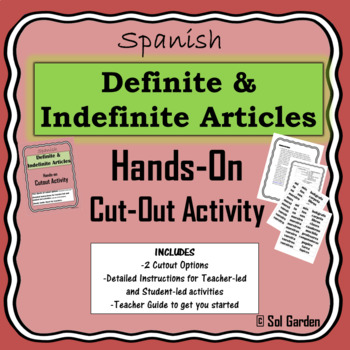 Definite and Indefinite Articles in Spanish - Hands-on Cutout Activity