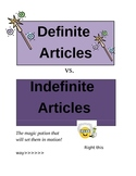 Definite vs. Indefinite Articles