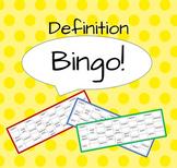 Definition Bingo! (Year 6/Grade 5 grammatical terms)