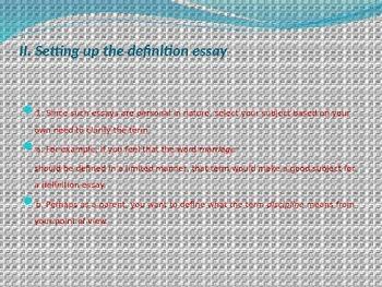 Definition Essay